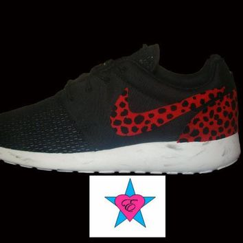 Red Leopard Marble Sole Roshe Runs