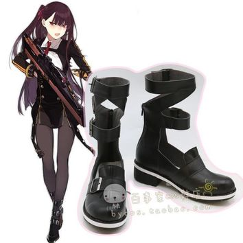 2018 New Game Girls Frontline wa2000 Cosplay Costume Halloween Carnival Battle Unifrom girls lolita punk Shoes boots