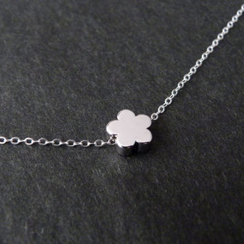 Flower girl gift, Flower girl jewelry in Sterling silver, Flower girl necklace, Personalized girl necklace, Kids jewelry