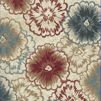 Dynamic Rugs Melody Multi Floral Rectangle Area Rug