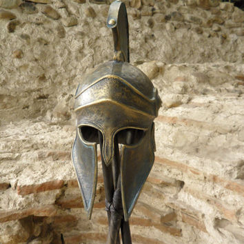 Bronze Greek Helmet,Ancient Corinthian Helmet,Metal Sculpture,Ancient Greece Armor Helmet,Larp Helmet,Cosplay Helmet,Greece Аntique Аrmor