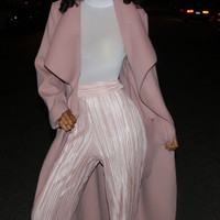 Waterfall Trench Coat Blush