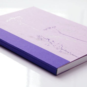 Pale pink and violet handbound journal