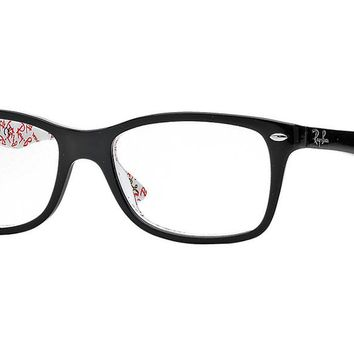 Ray-Ban Optical 0RX5228 53 Top Black On Texture White Women's Glasses