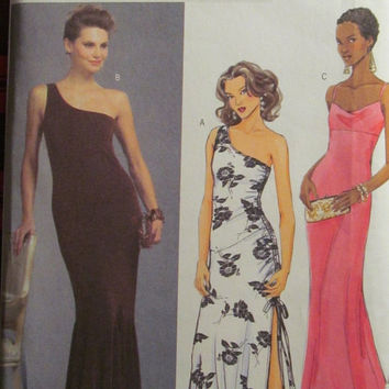 SALE Uncut Butterick Sewing pattern, 4730! 6-8-10-12-14-16-18-20 Small/Medium/Large/XL/Plus/Women's/Misses, Formal/Evening Dress/Prom/weddin