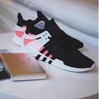 Adidas Equipment EQT Support ADV Black/Pink Casual Sports Shoes