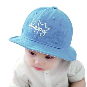 PEAP78W Baby Boys Girls Hat Cap  Sunshade Floral Letter Demin Peaked Beach Outdoor Cap
