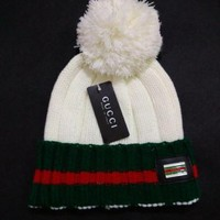 DCCKJ1A GUCCI men and women embroidery knit wool hat F