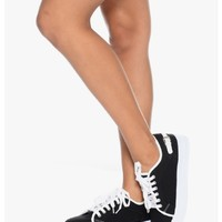 Black Marina Park Canvas Sneakers | $11.50 | Cheap Trendy Sneakers Chic Discount Fashion for Women
