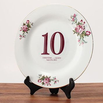 Classic Table Number Diecut Clear Cling Numbers 31-36 Ruby (Pack of 6)