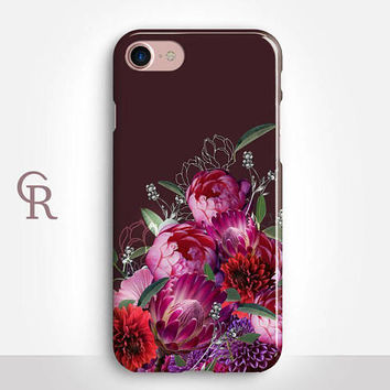 Floral iPhone 7 Plus Case For iPhone 8 iPhone 8 Plus - iPhone X - iPhone 7 Plus - iPhone 6 - iPhone 6S - iPhone SE - Samsung S8 - iPhone 5