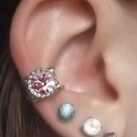 Roses Are Pink Ear Cuff