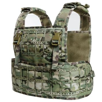 CPC Tactical Vest Body Armor Molle Plate Carrier Military Combat Gear Modular Combat Vest with Molle Loading System for Airsoft