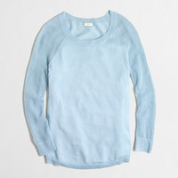 FACTORY MERINO MESH-SLEEVE SWEATER