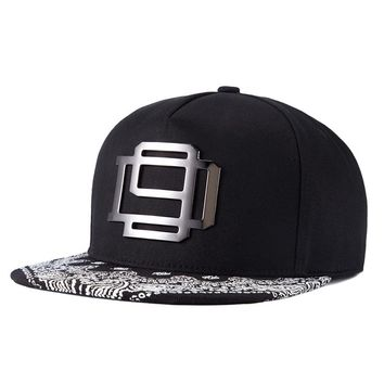 Cap Snapback Hip Hop Hat  Metal Swag