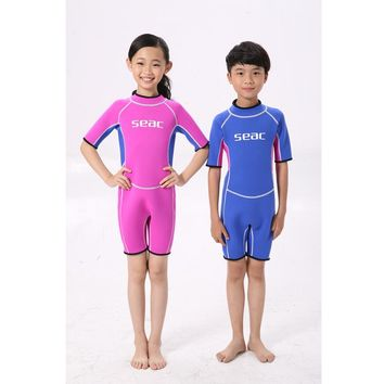 Kids/Adult Neoprene Swimsuit Wetsuits Snorkeling Surfing Rash Guards Children's Swimwear One Piece Diving Suits