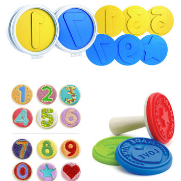 Set of 12 Number Fun Cookie Cutters Press