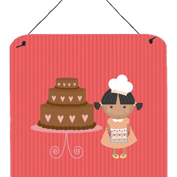 Valentine's Cake Baker African American Wall or Door Hanging Prints BB7264DS66