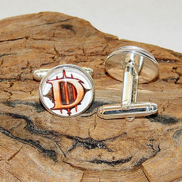 Diablo 3 logo World of Warcraft cufflinks earrings, Diablo video game, Diablo Fan Art, Diablo simbol, Diablo patch, Diablo 3 emblem for men