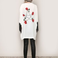 Rose Pentacle Kimono - Tops - Clothes at Gypsy Warrior