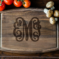 Custom Engraved Cutting Board, Personalized Cutting Board, Monogram, Wedding Gift, Anniversary, Bridal Shower Gift, Kitchen Decor #3111