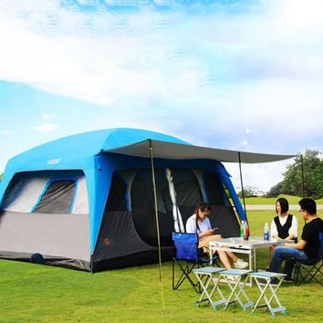 8-12 Person 2 room Family Camping Cabin Tent