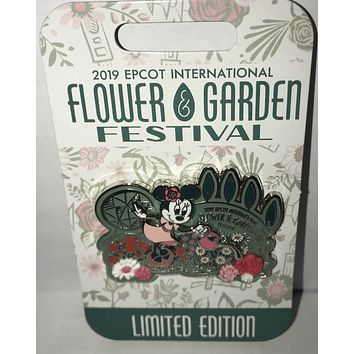 Disney Epcot Flower & Garden 2019 Minnie Mouse Pin Limited Edition New