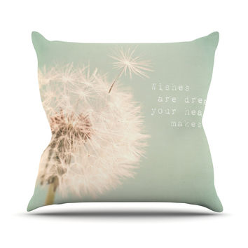 "Debbra Obertanec ""Wishes Are Dreams"" Fuzzy Outdoor Throw Pillow"