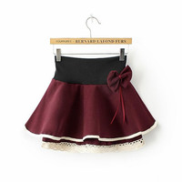 Lace A-Line Layered Mini Skirt