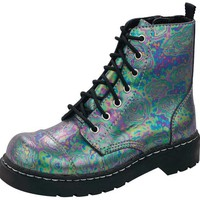 Oil Slick Leather Boots