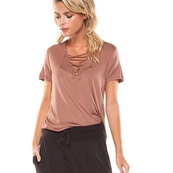 Dex Lace Up Front Top