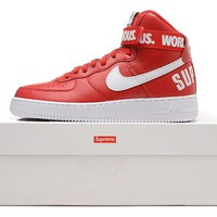 Nike Air Force 1 Liberty Qs Af1 Red For Women Men Running Sport Casual Shoes Sneakers