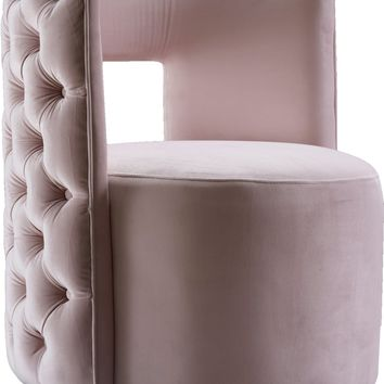 Theo Pink Velvet Accent Chair