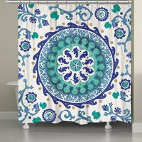 Coastal Medallion Shower Curtain