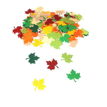Paper leaves Paper leaves confetti Leaf party decors Leaves die cuts Paper leaves cutouts Autumn leaves Leaves scrapbooking Leaf decoration