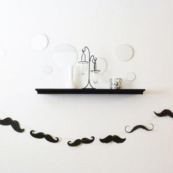 6 Feet   Mustache Moustache Mustashe Banner Garland   The Perfect Addition To Your Little Man Dude Birthday Bash Party Baby Shower Wedding
