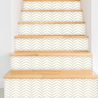 "New York 1920 Removable 5' x 20"" Chevron and Herringbone Wallpaper"