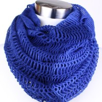 Fashion Net Pattern Scarf Cylinder Loop Scarf 2-in-1 - Infinity Ways to Style -