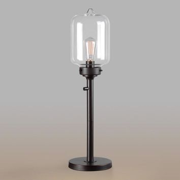 Bronze and Glass Foster Table Lamp