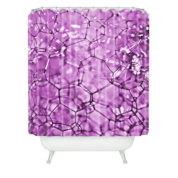 Lisa Argyropoulos Connections In Purple Shower Curtain