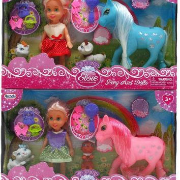 My Pretty Elsie Little Princess Pony and Doll - CASE OF 24