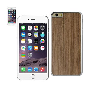 New Wood Grain Slim Snap On Case In Silver For iPhone 6 Plus By Reiko