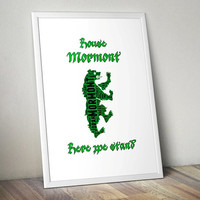 House Mormont, Game of Thrones - Printable Poster - Digital Art - Download and Print