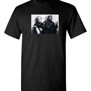 Supreme Legends Marilyn Monroe Tupac Shakur Chillin T shirt Hip Hop t shirt