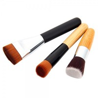 3Pcs Angled & Flat-end & 163 Flat-end Cosmetic Makeup Brush Set
