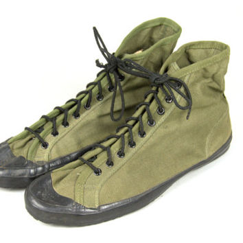 DEADSTOCK 1945 WWll Converse Chuck Taylor Military Issued High Top Shoes Mens 13