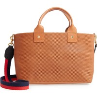 Clare V. Perforated Bruno Leather Crossbody Bag | Nordstrom