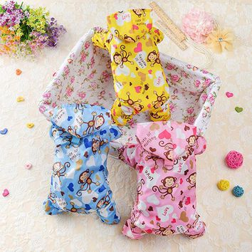 New Pet Dog Clothes Perennial Waterproof Monkey Printed Raincoat Small Medium Teddy Puppy S-XXL