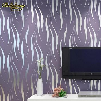 beibehang modern luxury 3D wallpaper stripe wall paper papel de parede damask wall paper for living room bedroom TV background