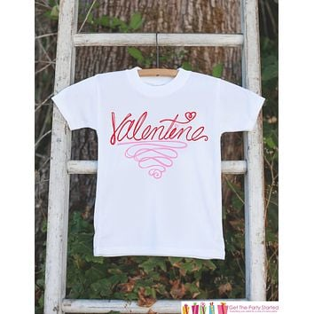 Kids Valentines Day Shirt - Valentine Outfit - Novelty Valentine Onepiece for Baby Girls or Boys - Kids Valentines Outfit - Red & Pink